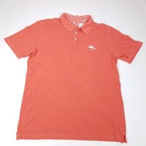 Tommy Bahama Polo Shirt 100% Pima Orange Mens XLT